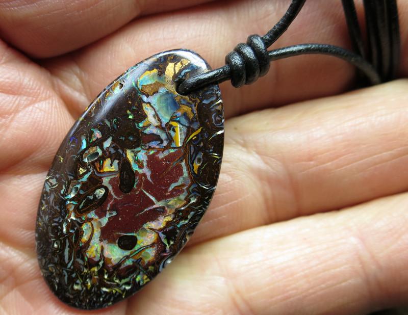 Listing 591464379 Matrix Opal Pendant