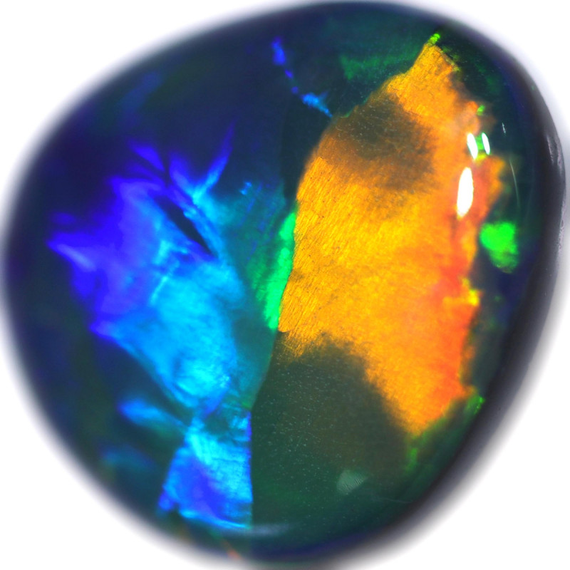 2.58 CTS BLACK OPAL STONE-FROM  OLD COLLECTION- [LRO916]