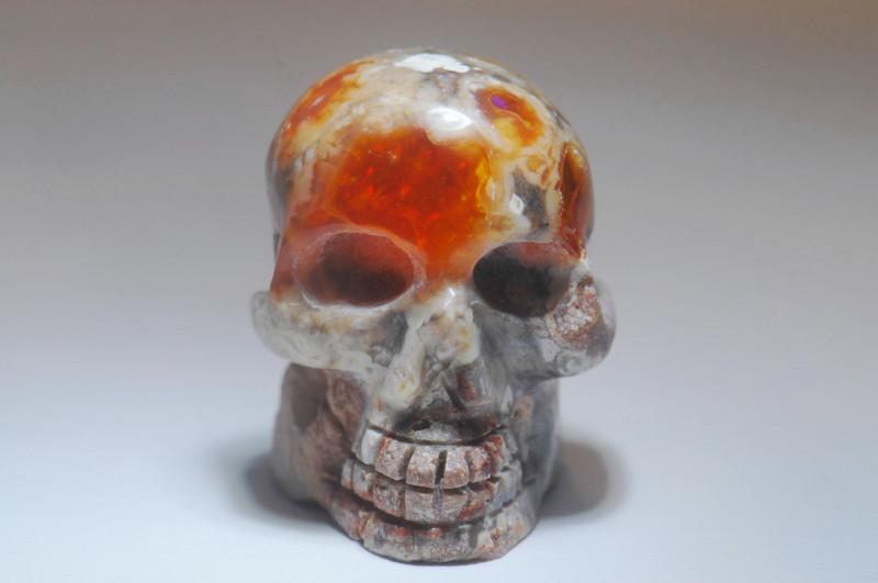39.61ct Skull Mexican Matrix Fire Opal Pendant