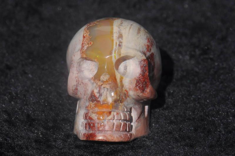 250ct Skull Mexican Matrix Fire Opal