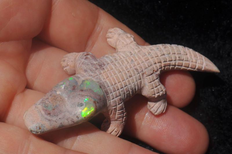 Cocodrile Mexican Matrix Fire Opal