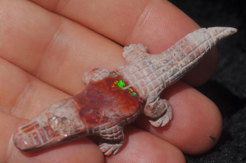 Croc Mexican Matrix Fire Opal