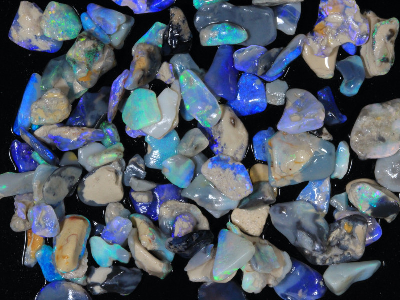 110ct  #9  Lightning Ridge opal chips [25012]