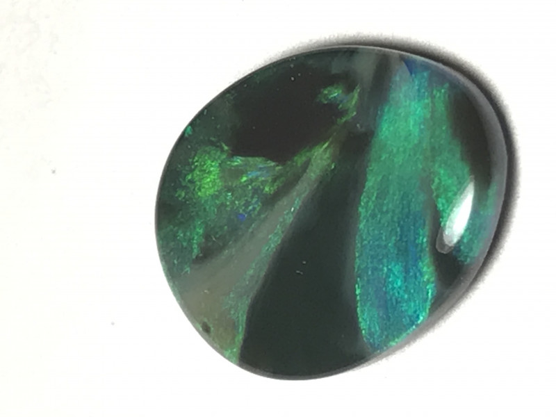 Picture stone black opal from lightning ridge