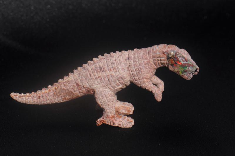 Dinosaur Mexican Matrix Fire Opal Figurine