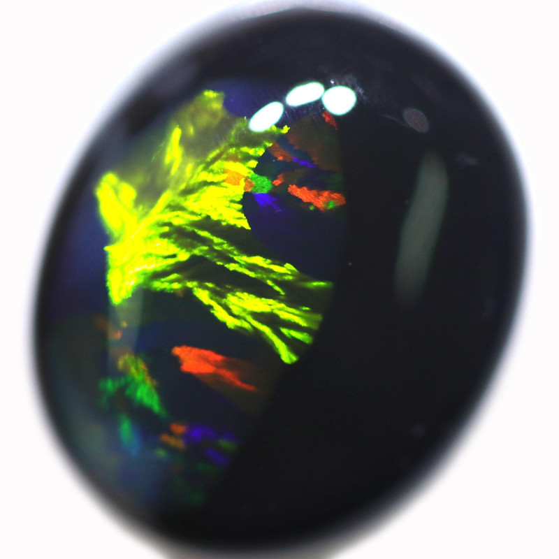 3.88 CTS BLACK OPAL STONE-FROM  LIGHTNING RIDGE - [LRO937]