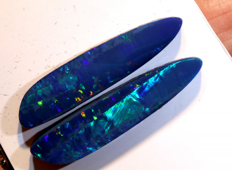 10.28-CTS   OPAL DOUBLET PAIR LO- 5579