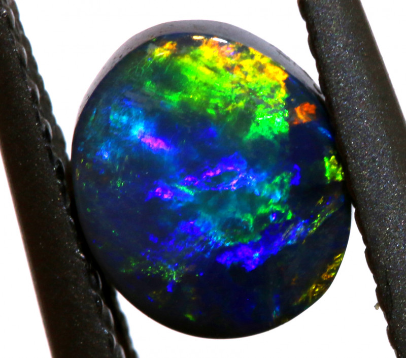 N1-   0.68 CTS  L. RIDGE BLACK OPAL  POLISHED STONE TBO-A48