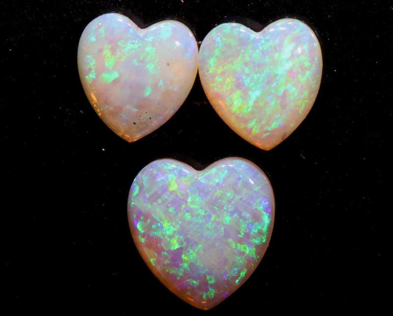 2.03  CTS ❤ HEART SHAPE CRYSTAL OPAL CUT STONE  PARCEL  LO-5590
