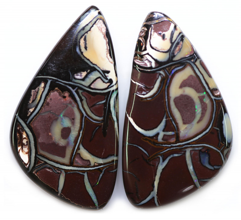 90.33 CTS WELL POLISHED PAIR BOULDER STONES [BMA9123]