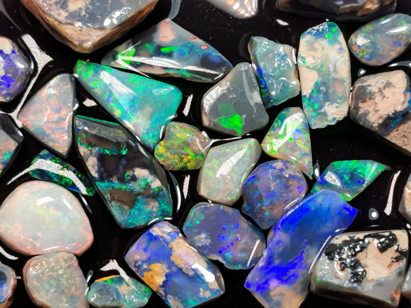 Rough Opal Lot 71.60 cts 32 pcs Black Opals Lightning Ridge BORA091219