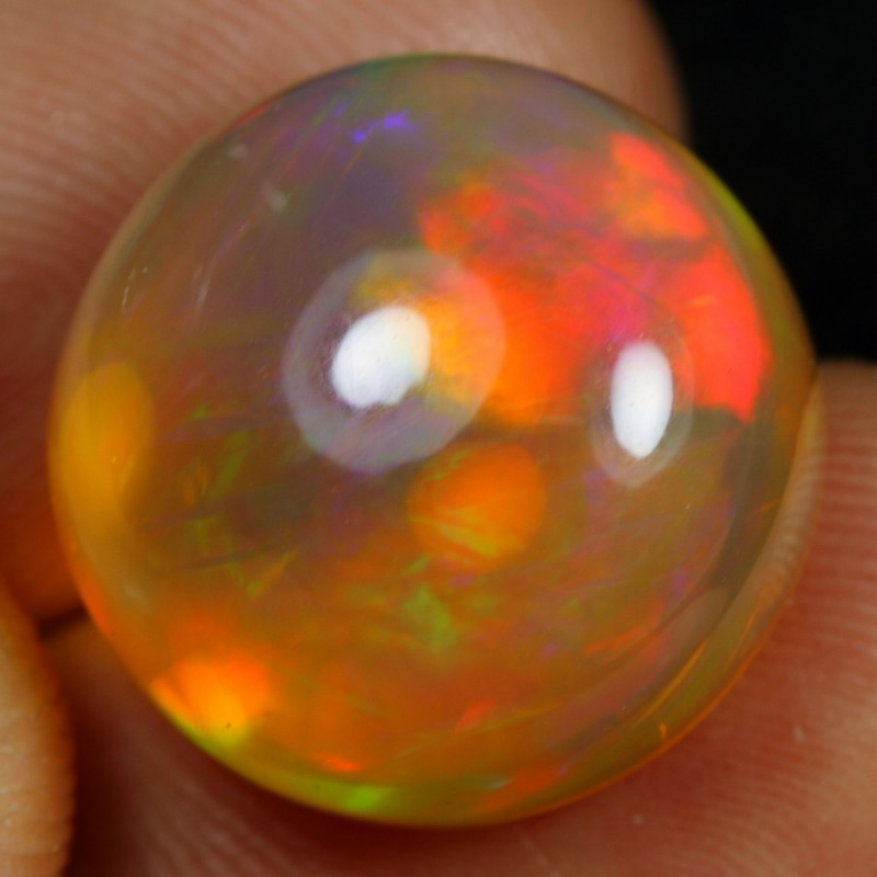 17.10cts Sunset Pattern Natural Ethiopian Welo Opal