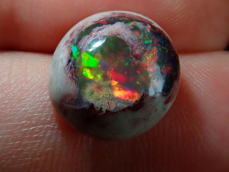 6.3ct Mexican Matrix Cantera Multicoloured Fire Opal