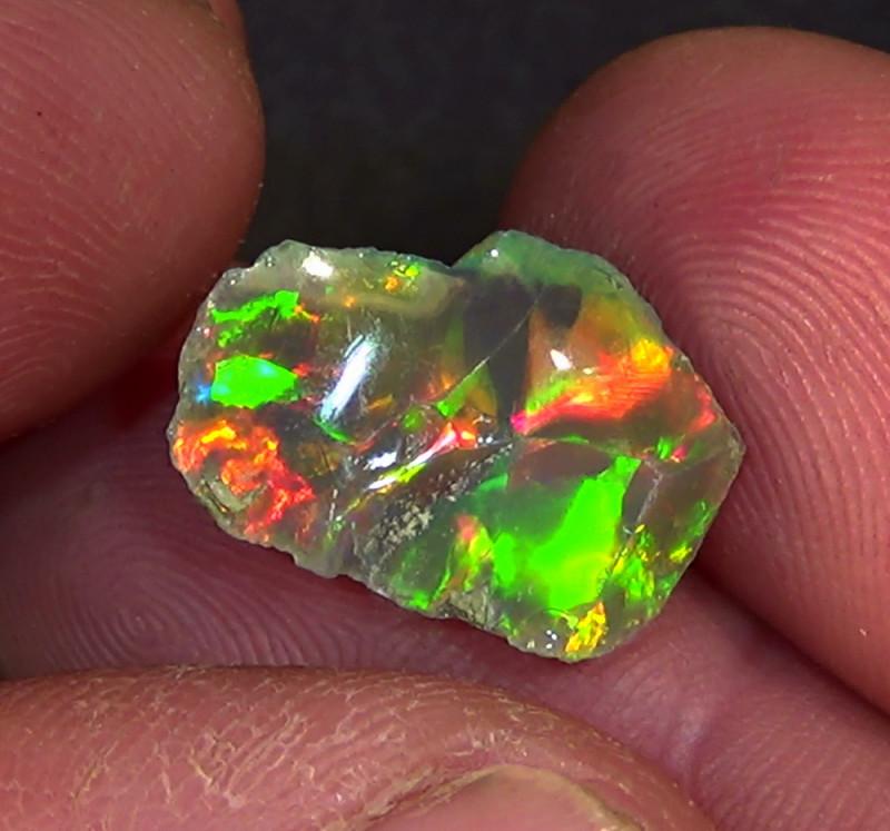 6.20 cts Ethiopian Welo CHAFF rough brilliant dark opal N4 5/5