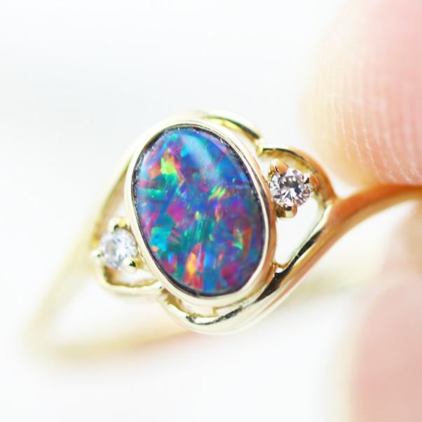 14k Doublet Opal Ring OPJ 2570