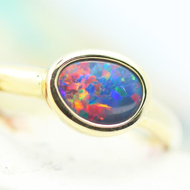 14k Doublet Opal Ring OPJ 2573