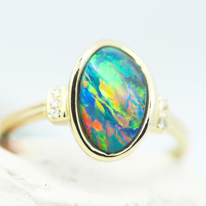 14k Doublet Opal Ring OPJ 2576