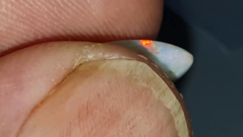 3.7 Ct Black opal from Lightning Ridge