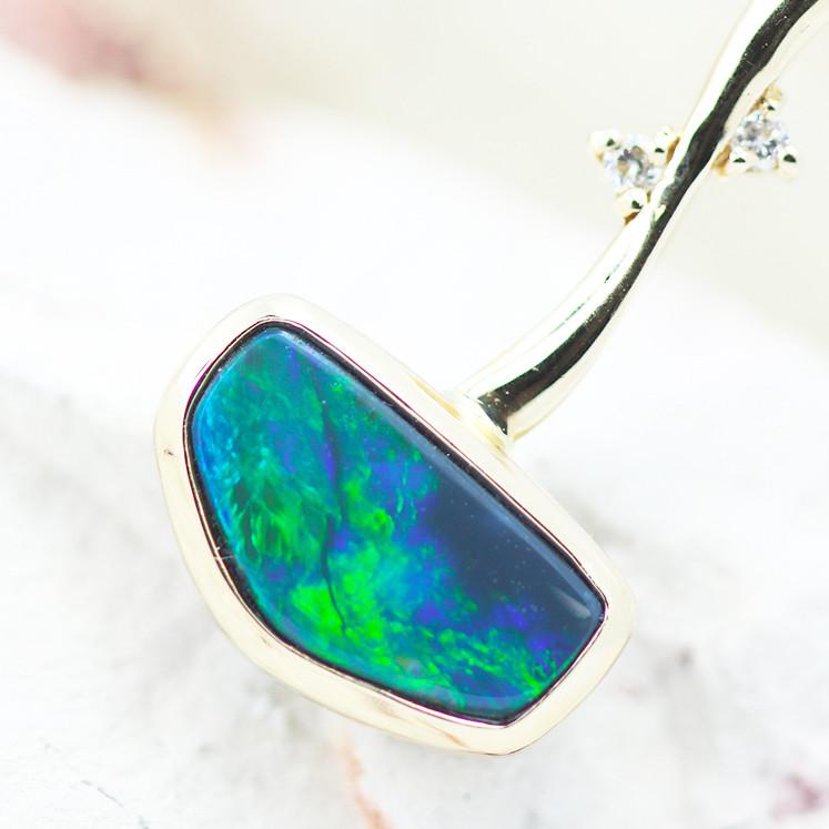14k Black Opal Pendant OPJ 2272