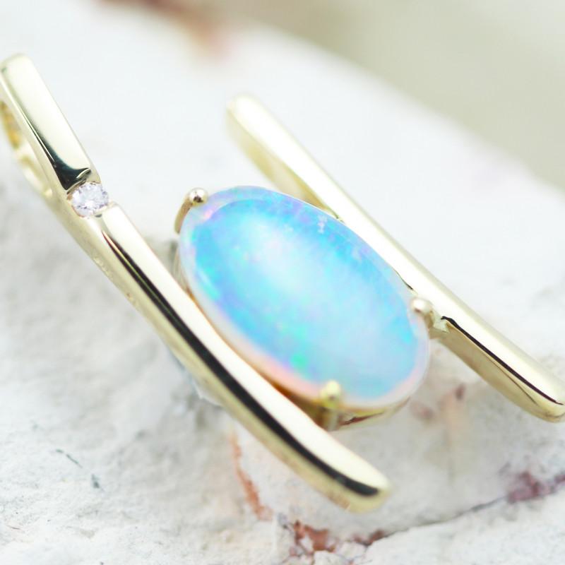 14k Crystal Opal Pendant OPJ 2276