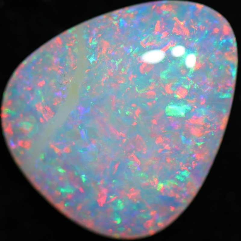 3.49 CTS DOUBLE SIDES BOULDER CRYSTAL OPAL STONE [LRO777]