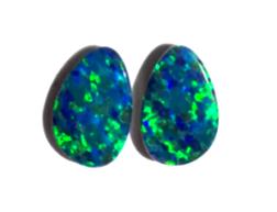 Stunning pair of Australian Opal Doublets 10x6mm (3486)