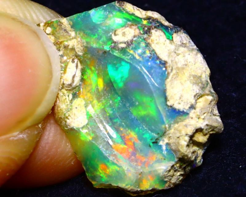 4.40Ct Multi Color Play Ethiopian Welo Opal Rough G2220