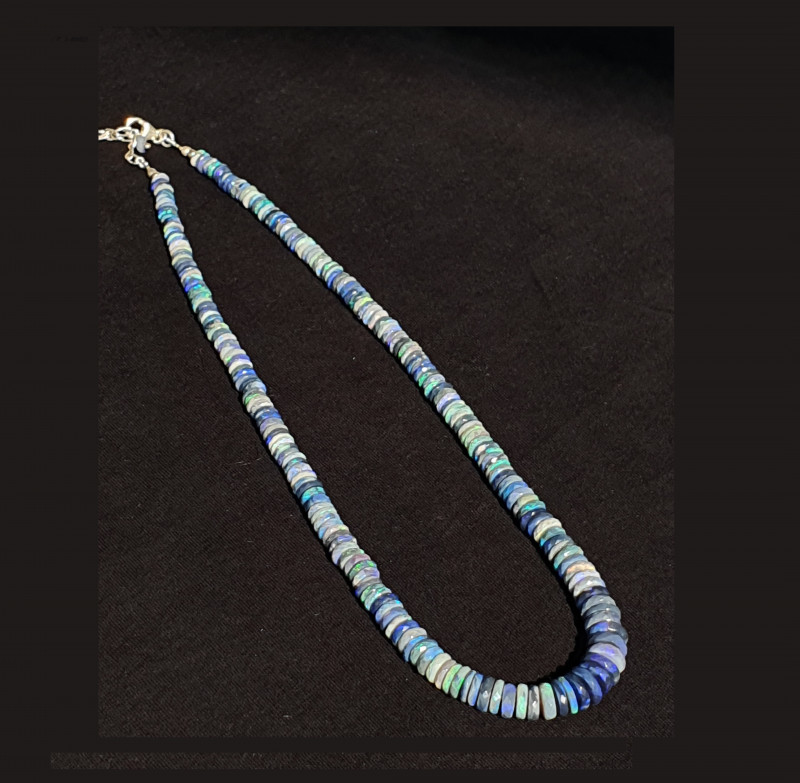 Faceted Black Opal Beads #5
