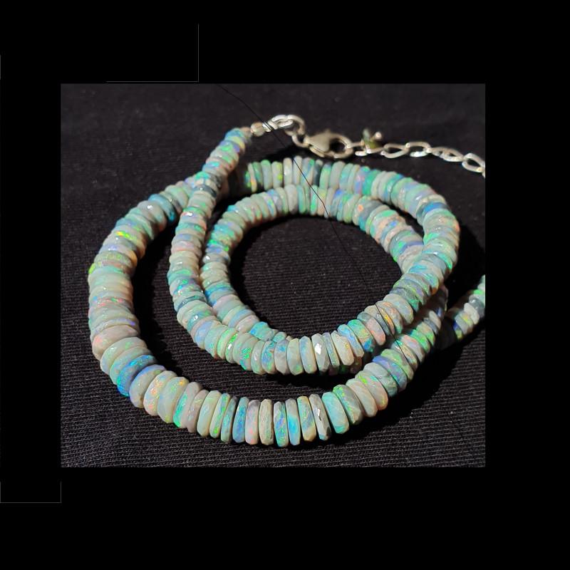 Green Shades Opal Bead #8