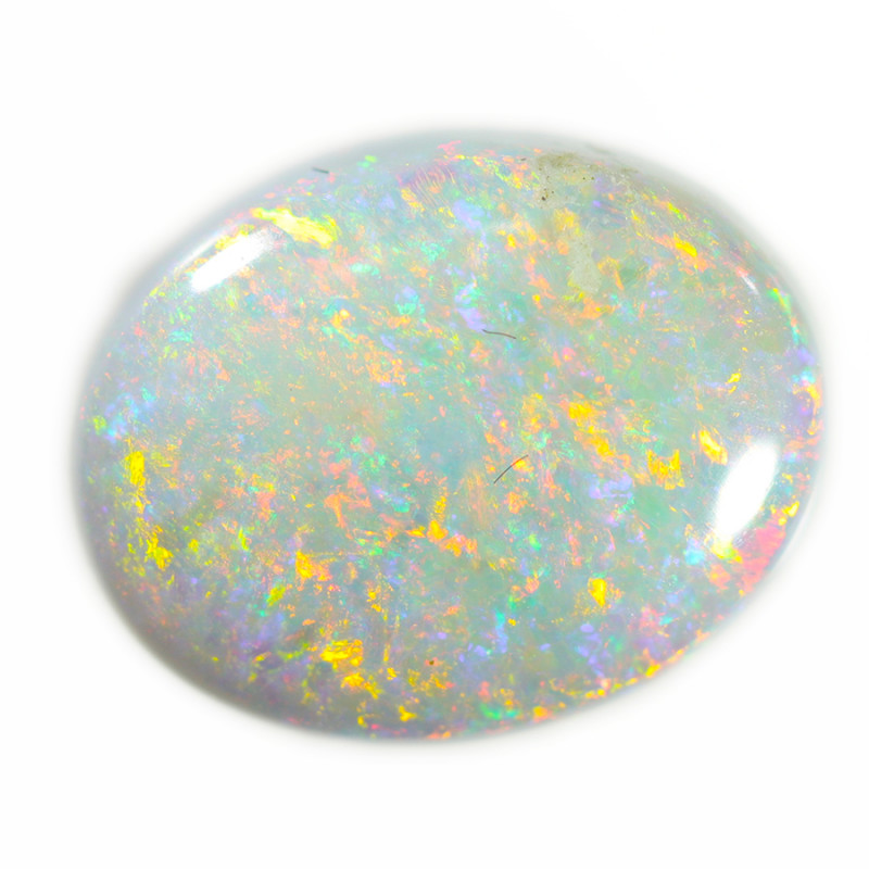 2.25 Cts White Fire  Coober pedy  opal  OPJ 2632