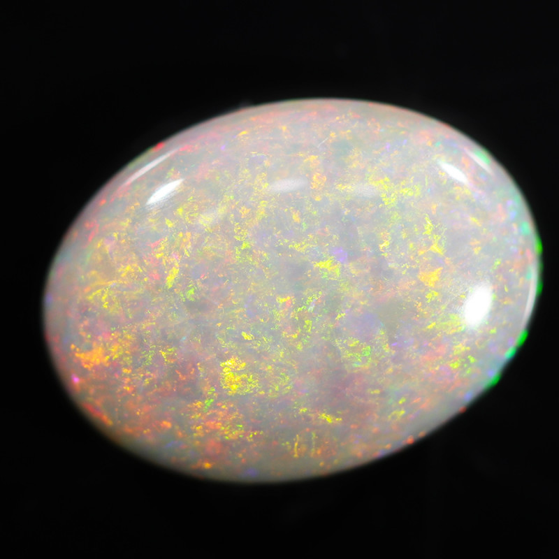 1.5 Cts White Fire  Coober pedy  opal  OPJ 2634