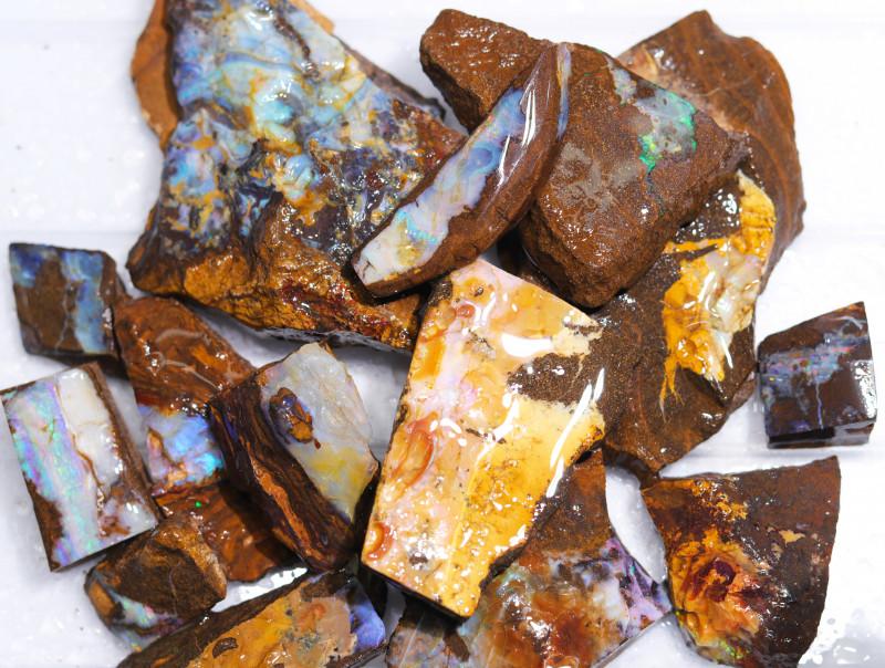 1/2 kilo Parcel Boulder Opal Rough  Rubs  WS 1801