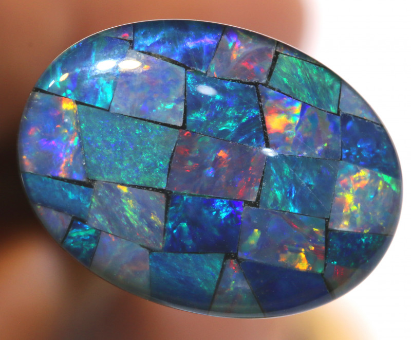 7.40CTS - TOP  QUALITY MOSAIC TRIPLET    LO-5709