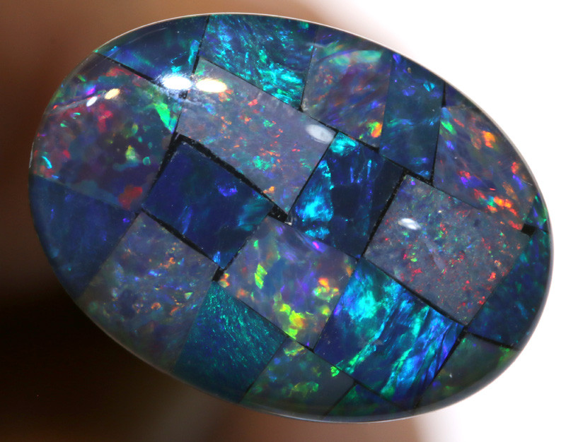 7.40CTS - TOP  QUALITY MOSAIC TRIPLET    LO-5710