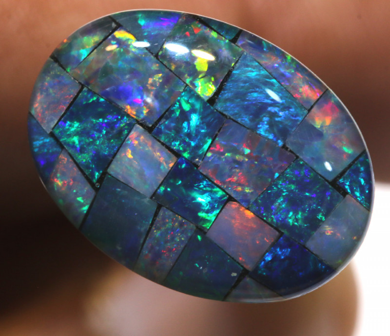 7.40CTS - TOP  QUALITY MOSAIC TRIPLET    LO-5715