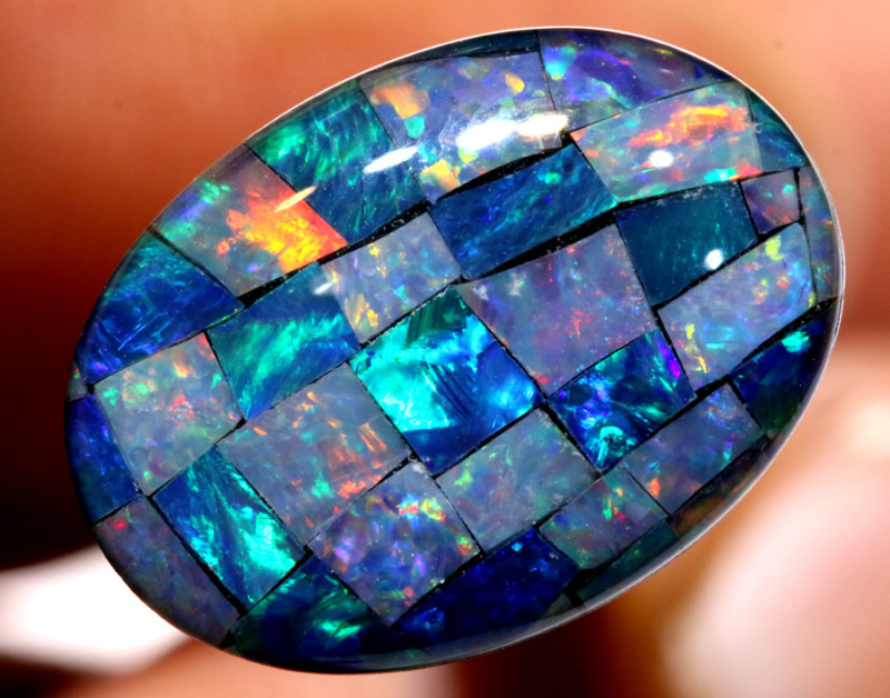 7.40CTS - TOP  QUALITY MOSAIC TRIPLET    LO-5716