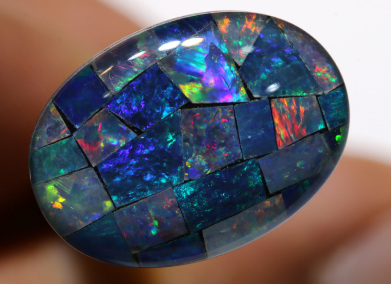 7.40CTS - TOP  QUALITY MOSAIC TRIPLET    LO-5722