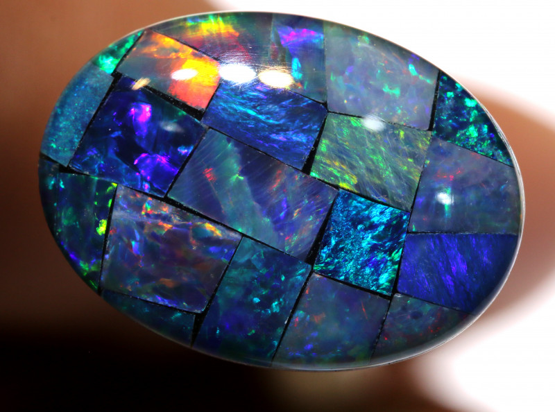7.40CTS - TOP  QUALITY MOSAIC TRIPLET    LO-5723