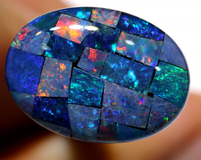 7.40CTS - TOP  QUALITY MOSAIC TRIPLET    LO-5724