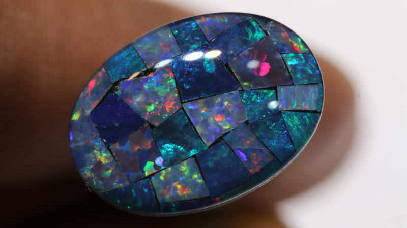 7.40CTS - TOP  QUALITY MOSAIC TRIPLET    LO-5726