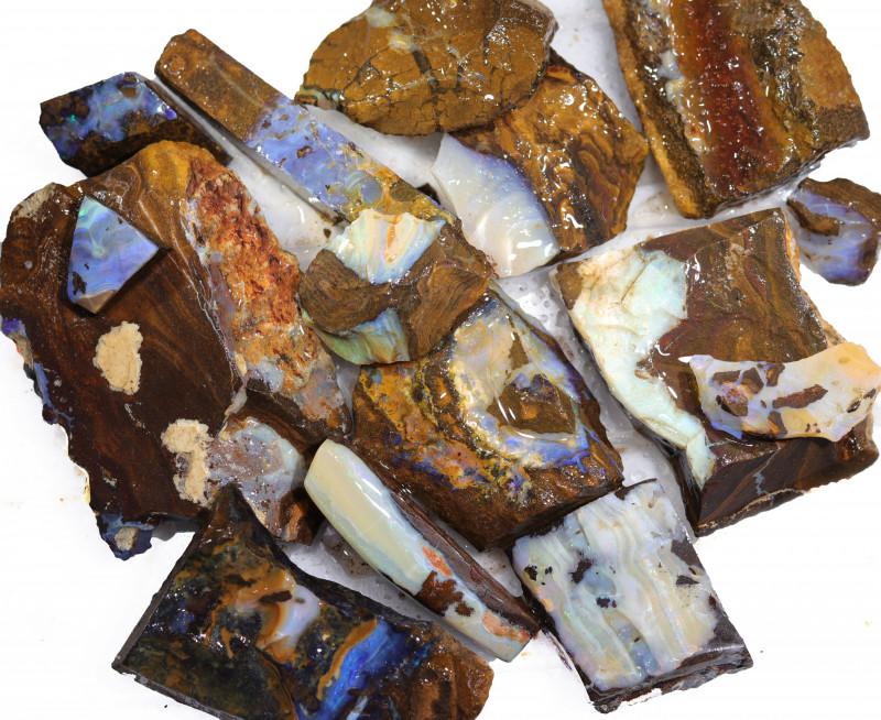 1/2 kilo Parcel Boulder Opal Rough  Rubs  WS 1819
