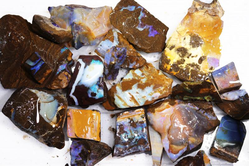 1/2 kilo Parcel Boulder Opal Rough  Rubs  WS 1820