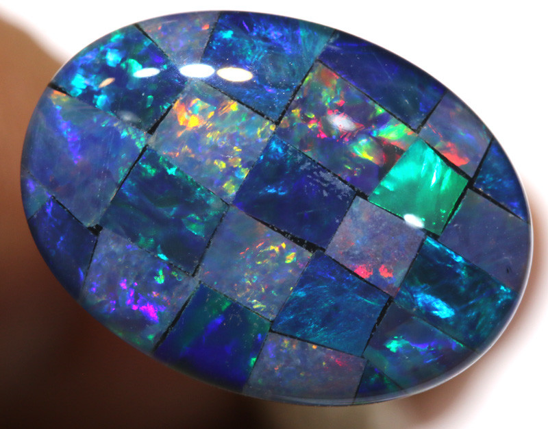 7.40CTS - TOP  QUALITY MOSAIC TRIPLET    LO-5729