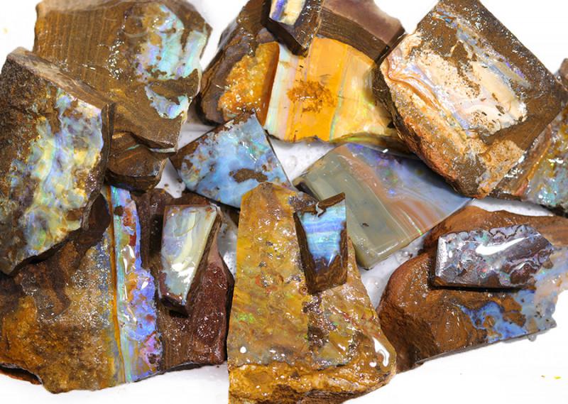 1 Kilo Parcel Boulder Opal Rough  Rubs  WS 1825