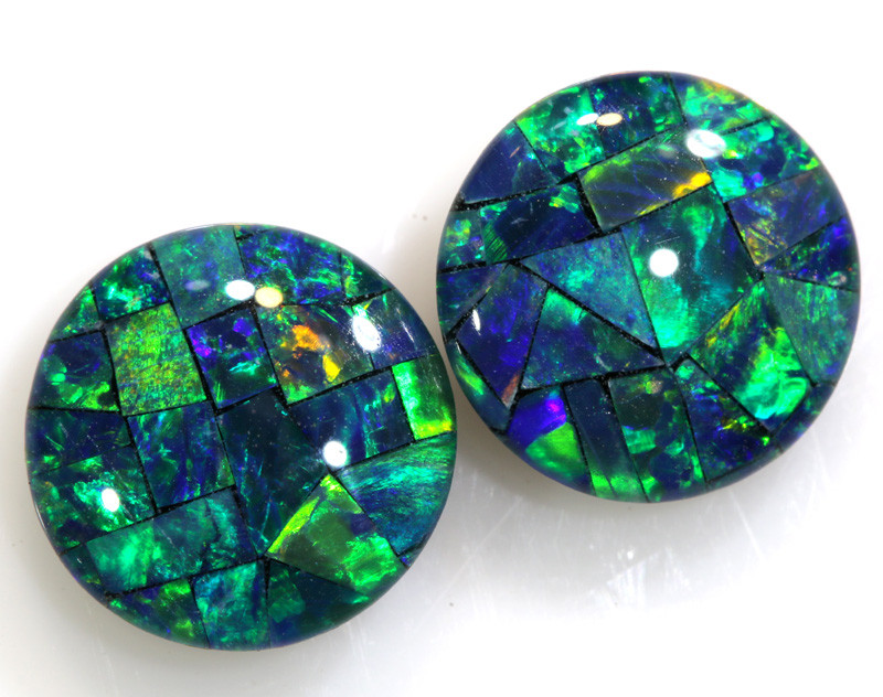 4.60 CTS - A GRADE  QUALITY MOSAIC TRIPLET PAIR  LO-5754