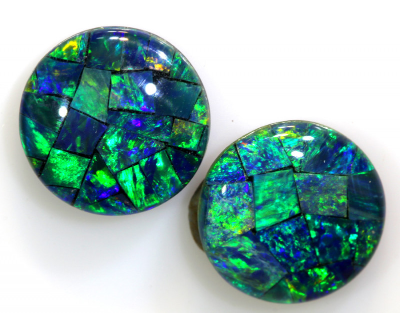 4.60 CTS - A GRADE  QUALITY MOSAIC TRIPLET PAIR  LO-5756