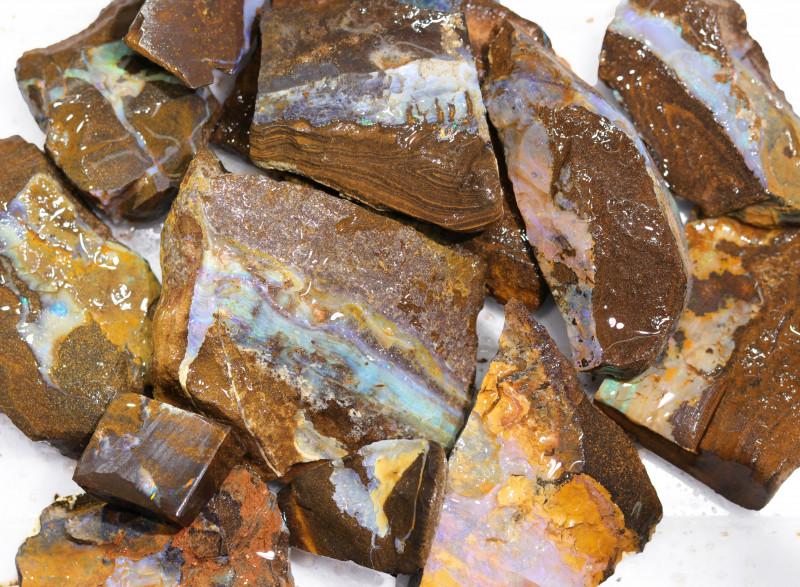 1 Kilo Parcel Boulder Opal Rough  Rubs  WS 1830