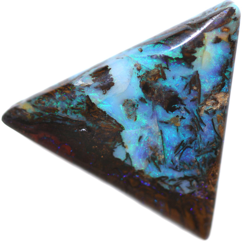 16.87 CTS BOULDER WOOD FOSSIL WELL POLISHED[BMA9225]