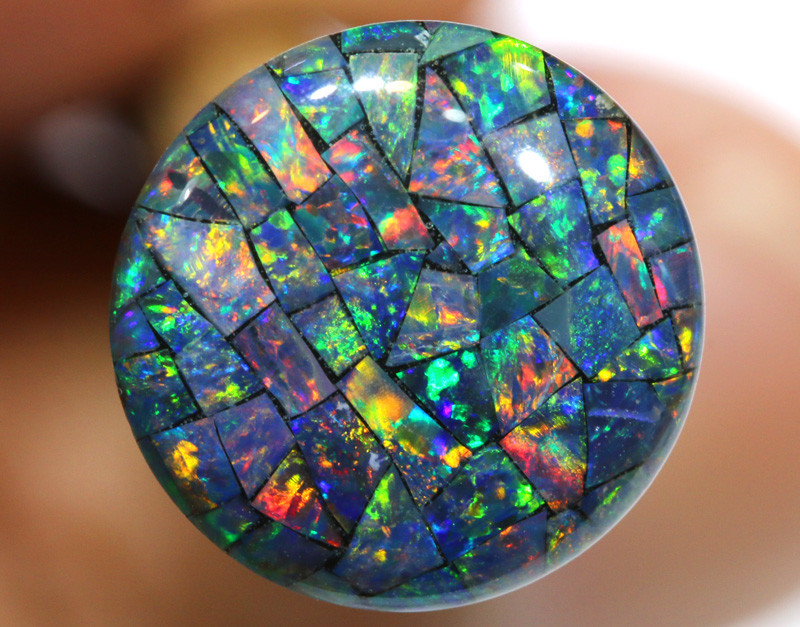 3.80 CTS - A GRADE  QUALITY MOSAIC TRIPLET  LO-5813