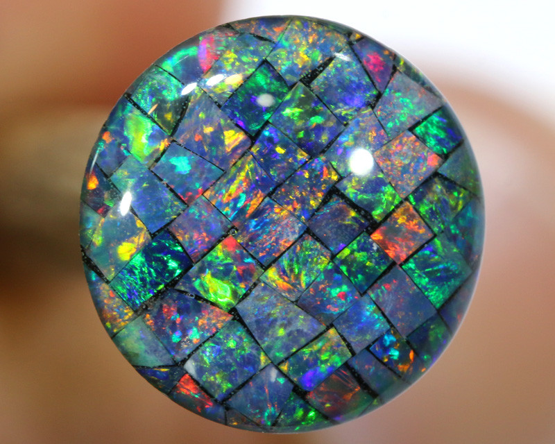 3.80 CTS - A GRADE  QUALITY MOSAIC TRIPLET  LO-5815